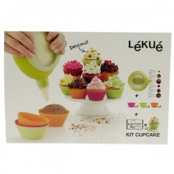 Kit cupcake en silicone Lékué, reference CL27000035