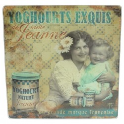 Dessous de plat yoghourt tante jeanne Arts de la table CL28000043, reference CL28000043