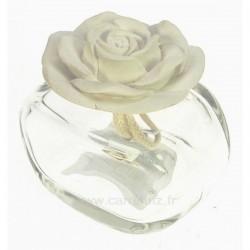 Diffuseur de parfum rose en platre blanche, reference CL30000300