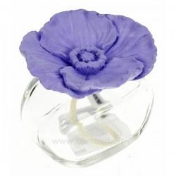 Diffuseur de parfum coquelicot en platre parme, reference CL30000314