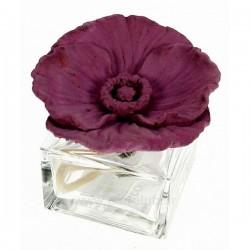 Diffuseur de parfum coquelicot en platre rose foncé, reference CL30000316