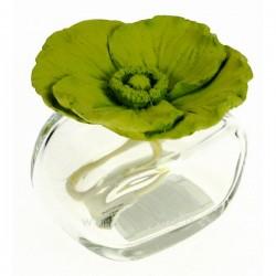 Diffuseur de parfum coquelicot en platre vert, reference CL30000317