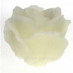 Photophore rose blanche parfumée diamètre 17 cm Point à la ligne, reference CL31000092