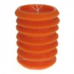 Bougie Lampion orange Point à la ligne, reference CL31000110