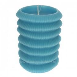 Bougie Lampion turquoise Point à la ligne, reference CL31000112