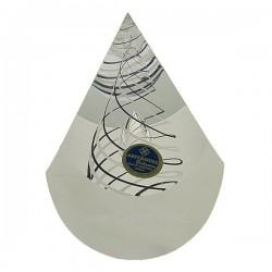 Oeuf coupé cristal de bohéme Artcristal spirale noir et blanche, reference CL40004005