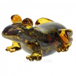Grenouille en verre couleur ambre et bleu The Juliana Collection, reference CL40005005