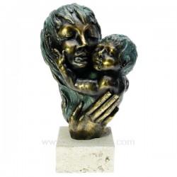 Sculpture en materiaux composite patiné bronze Attachement deAndres Gomez hauteur 33 cm, reference CL46101042