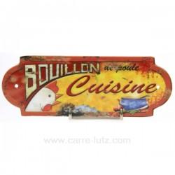 PLAQUE PORTE CUISINE BOUILLON Cadeaux - Décoration CL46300003, reference CL46300003