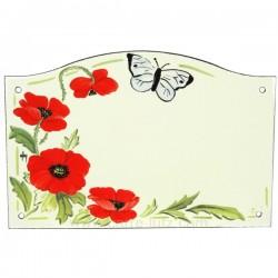 Plaque emaillee coquelicot Cadeaux - Décoration CL46302006, reference CL46302006