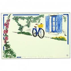 Plaque emaillee rose tremiere Cadeaux - Décoration CL46302009, reference CL46302009
