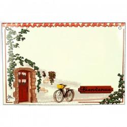 Plaque emaillee velo bienvenue Cadeaux - Décoration CL46302011, reference CL46302011
