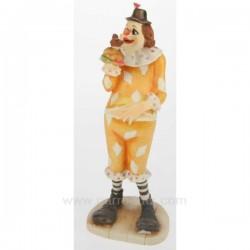 Clown en résine décorée hauteur 27 cm, reference CL47001009