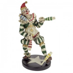 Clown jongleur en résine hauteur 36,5 cm, reference CL47001031
