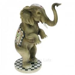 Eléphant de cirque en résine hauteur 32 cm, reference CL47001039