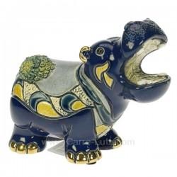 Hippopotame avec nénuphar par De Rosa Rinconada, reference CL47200062