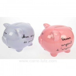 TIRELIRE COCHON HUMORISTIQUE Cadeaux - Décoration CL49100008, reference CL49100008