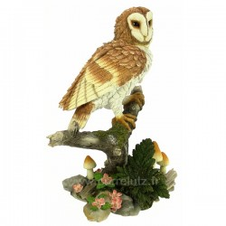 Chouette effraie sur sa branche en résineThe Léonardo Collection, reference CL49200030