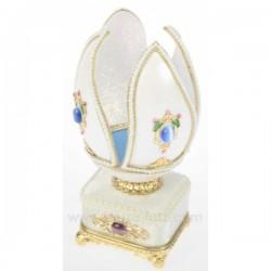 OEUF VeRITABLE PERLES BLEUES Cadeaux - Décoration CL49300029, reference CL49300029