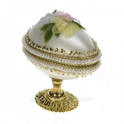 Oeuf veritable fleurs Cadeaux - Décoration CL49300045, reference CL49300045