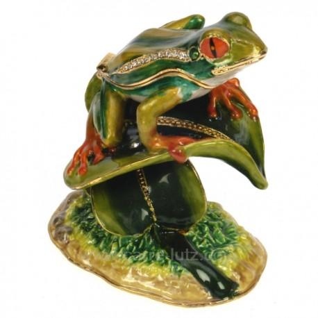 Boite m tal maill grenouille sur feuille couleur vert - Couleur avec le vert ...