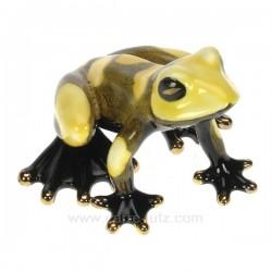 Grenouille porcelaine jaune Cadeaux - Décoration CL49500033, reference CL49500033