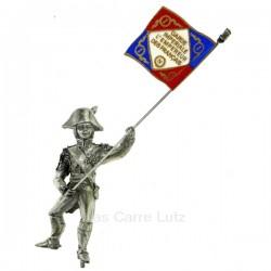 Soldat avec drapeau étains du prince, reference CL49800034