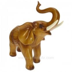 Elephant MM facon teck Cadeaux - Décoration CL49900035, reference CL49900035