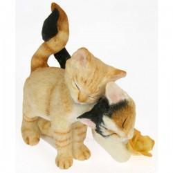 Couple de chatons en résine collection country artists, reference CL50001006