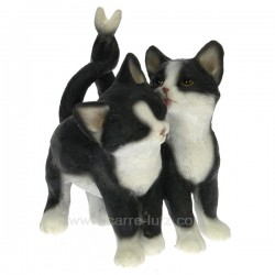 Couple chat noir et blanc Léonardo Collection CL50001036, reference CL50001036