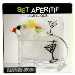set aperitif cocktail L'apéritif CL50180020, reference CL50180020
