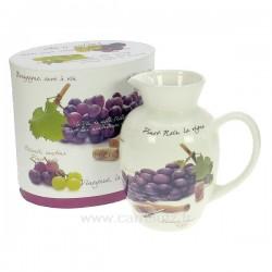 Carafe à vin décor raisin en porcelaine décorée Le vin CL50190038, reference CL50190038