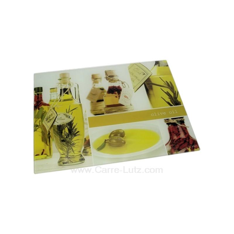 Planche d couper en verre d cor bouteille d 39 huile ref cl50201035 - Decouper une bouteille en verre ...