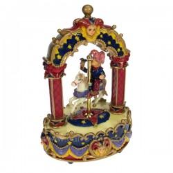 Boite a musique clown cavalier Carrousel manège et boite à musique CL50230048, reference CL50230048
