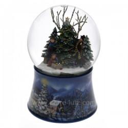Boule a neige sapin Carrousel manège et boite à musique CL50231051, reference CL50231051