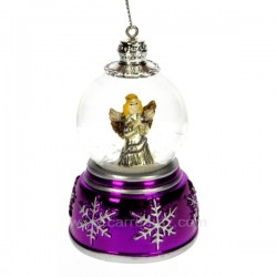 mini boule a neige rose Carrousel manège et boite à musique CL50231058, reference CL50231058