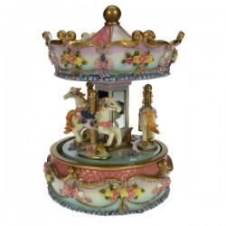 Manege chevaux rose et bleu Carrousel manège et boite à musique CL50231083, reference CL50231083