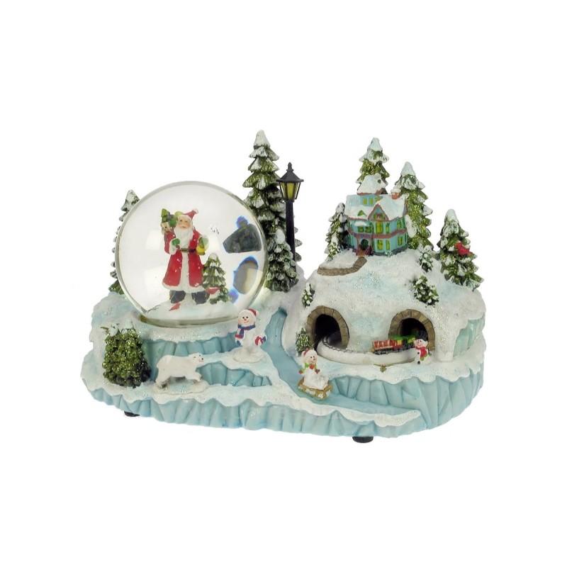 paysage enneig avec boule de neige ref cl50231125. Black Bedroom Furniture Sets. Home Design Ideas