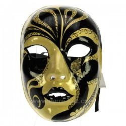 Masque Venise visage noir/or Masque de Venise CL50240270, reference CL50240270