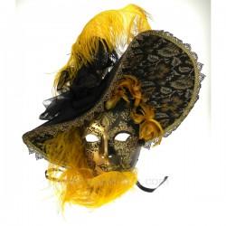 Masque Venise chapeau plume Masque de Venise CL50240294, reference CL50240294