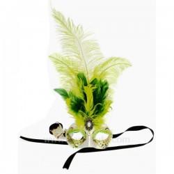 Masque de venise civette toupet vert Masque de Venise CL50240397, reference CL50240397