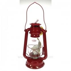 Lampe tempete rouge Cadeaux - Décoration CL50251016, reference CL50251016