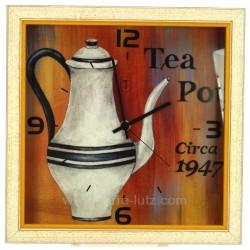 Horloge carre cafetiere Horlogerie CL80000116, reference CL80000116