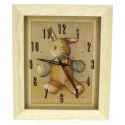 Pendule decor lapin Horlogerie CL80000162, reference CL80000162