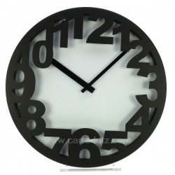 Pendule chiffres noirs Horlogerie CL80000166, reference CL80000166