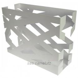 Porte revues ruban métal blanc Mascagni, reference CL83000055