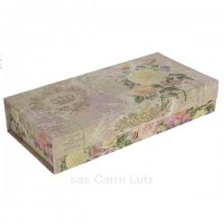 Coffret à souvenir fleurie en carton fort papier glacé fleurie, reference CL85000274