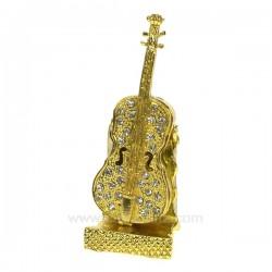 Boite métal émaillé avec strass violon , reference CL85002026