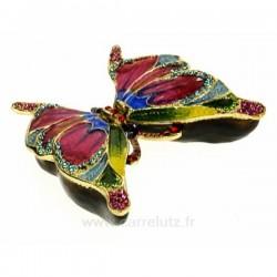 Boite émail papillon multicolor, reference CL85002058