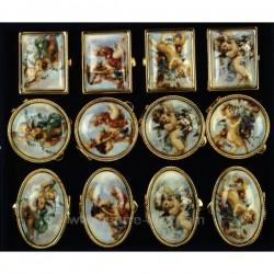 Boite a pillule ange porcelaine et métal doré forme et motif suivant arrivage, reference CL85004002